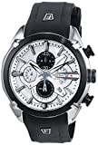 Festina Men's Quartz Watch with White Dial Chronograph Display and Black Rubber Strap F6819/1