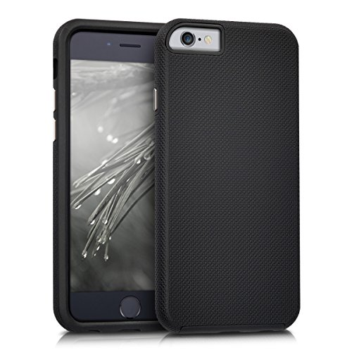 kalibri-Armor-Schutzhlle-fr-Apple-iPhone-6-6S-Hybrid-Dual-Layer-TPU-Silikon-Schale-und-PC-Case-in-Schwarz
