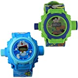 Shanti Enterprises Combo Chota Bheem And Doraemon 24 Images Projector Watch