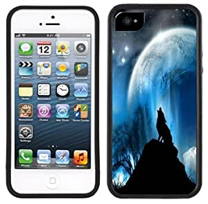.com: Howling Wolf Moon Handmade iPhone 5 5S Black Case: Cell Phones