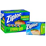 Ziploc Zippered Sandwich Bags, 500 Bags (4 pack)