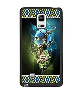 PrintDhaba Abstract Image D-4132 Back Case Cover for SAMSUNG GALAXY NOTE 4 EDGE (Multi-Coloured)