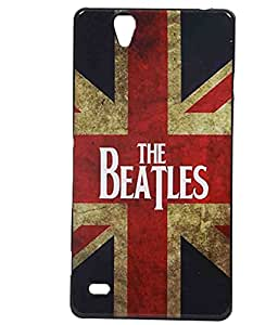 British Flag Exclusive Rubberised Back Case Cover for Sony Xperia C4 Dual