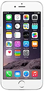 Apple iPhone 6 - Smartphone (Pantalla 4.7inch, 4G, 16 GB, iOS, Cámara de 8 MP) Plata