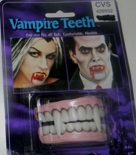 VAMPIRE TEETH ONE SIZE FITS ALL, SOFT, COMFORTABLE AND FLEXIBLE