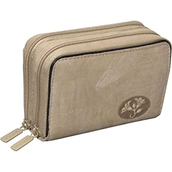 Buxton Heiress Leather Wizard Wallet (Taupe)