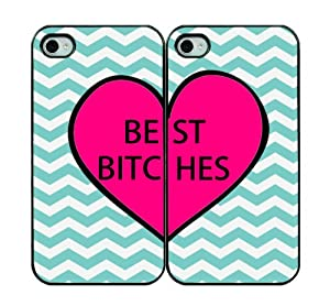 Best Bitches Two IPhone Cases – IPhone 5 Cases – Hard Plastic Black
