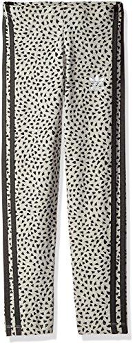 adidas Originals Girls' Legging, Medium Grey Heather/Black, Medium (Adidas Vintage Jacket compare prices)