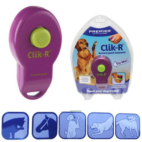 1 Pet Dog Bird Cat Horse Button Click Clicker Training Obedience Aid Band Pryor