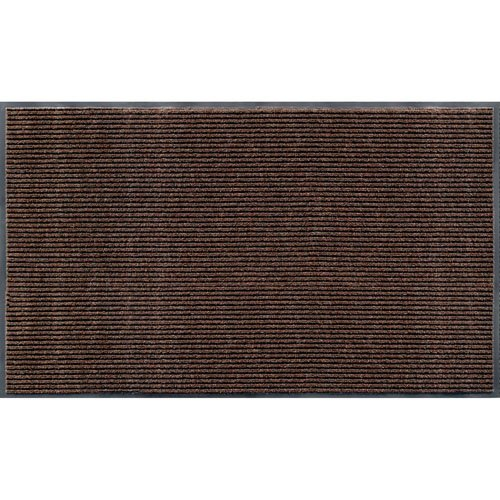 Apache Mills 01-033-1410 Rib Commercial Carpeted Indoor and Outdoor Floor Mat, Cocoa Brown, 3-feet by 5-Feet