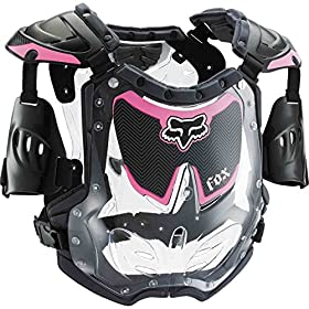 Fox Racing R3 Women's Roost Deflector MotoX Motorcycle Body Armor - Black/Pink / Medium/Large