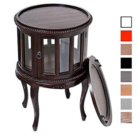 CLP Tavolino da salotto rotondo, diametro Ø 50 cm, legno di mogano, fino ad 8 colori a scelta marrone