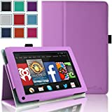 Kindle Fire 1st & 2nd Generation Cover Case - HOTCOOL Slim New PU Leather Case For Amazon Original Kindle Fire 2011 (Previous Generation - 1st) And Kindle Fire 2012 (Previous Generation - 2nd) Tablet(Will not fit HD or HDX models), Purple