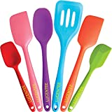 Lucentee 6-Piece Silicone Baking Set - Spatulas, Spoons & Turner - Heat Resistant Cooking Utensils (Multicolor)