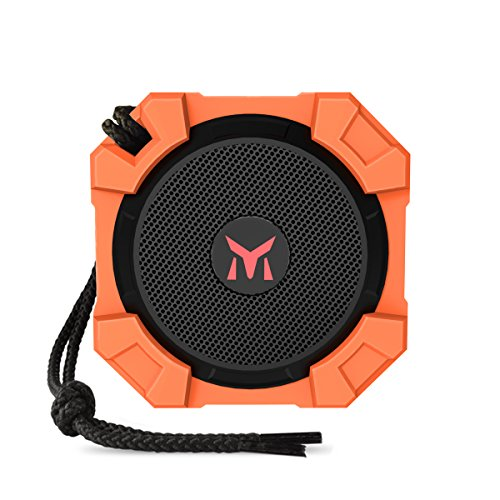 Portable-Outdoor-Bluetooth-Speaker-Monstercube-Water-Resistant-Wireless-Shower-Speaker-with-Microphone-5W-Output-Power-with-Enhanced-Bass-Orange