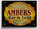 Ambers's Bar & Grill 14'' x 11'' Collectible Stretched Canvas