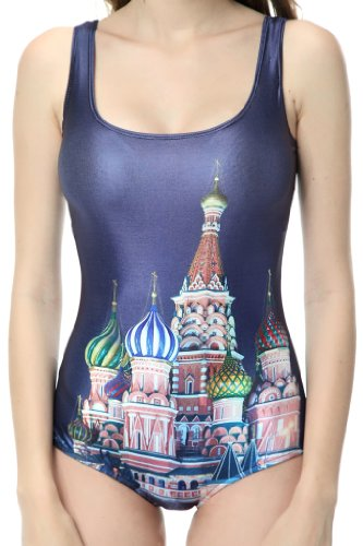 Ndb Disney Castle Print One Piece Swimsuit Swimwear Bath Clothing