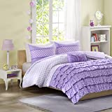 Mizone Morgan 3 Piece Comforter Set, Twin/Twin X-Large, Purple
