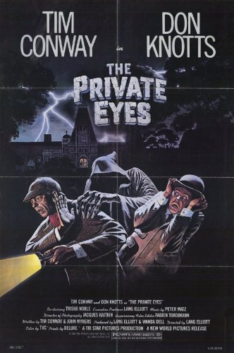 "movie poster for ""The Private Eyes"" starring Don Knotts and Tim Conway"