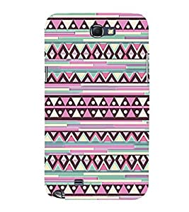 Abstract Diamond Pattern 3D Hard Polycarbonate Designer Back Case Cover for Samsung Galaxy Note 2 :: Samsung Galaxy Note 2 N7100