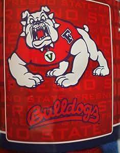 Fresno State Bulldog Fleece Blanket Throw