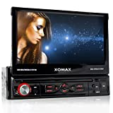 XOMAX-XM-VRSU727BT-Autoradio-Moniceiver-Monitor-motorisiert-18-cm-7-High-Definition-HD-Touchscreen-Display-Audio-Video-MP3-inkl-ID3-TAG-WMA-MPEG4-AVI-DIVX-etc-Bluetooth-Freisprecheinrichtung-Musikwied