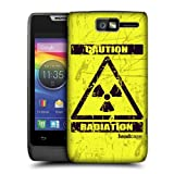 Head Case Radiation Hazard Symbol Design Back Case Cover For Motorola Razr D1