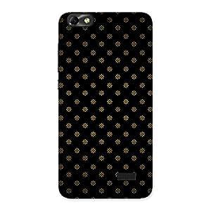 Impressive Golden Flower Black Back Case Cover for Honor 4C