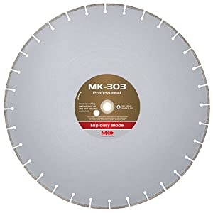 MK Diamond 156732 MK-303 Professional 30-Inch Diameter Lapidary Blade by .125-Inch wide by 1-Inch Arbor