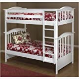 Orbelle Twin Over Twin Bunk Bed, White