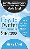 HOW TO TWITTER FOR BUSINESS SUCCESS: Everything Business Owners Need To Know About Twitter made Easy! Have you been thinking about using Twitter for your business? Or have you started using Twitter but you're not too sure if you're making the...