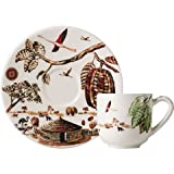 フランス伝統陶器 ジアン カカオ コーヒーカップ&ソーサー