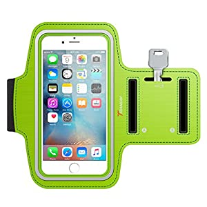 iPhone 6S Armband, Trianium ArmTrek Sports Exercise Armband for Apple iPhone 6 | iPhone 6S Case Running Pouch Touch Compatible Key Holder [Green] [Lifetime Warranty] Good for Hiking,Biking,Walking