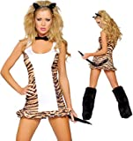 Roma Costume Women's Tigress Sexy Tiger Costumes For Women-S/M