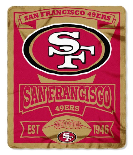 San Francisco 49Ers 50X60 Fleece Blanket - Marque Design--(Package Of 2)