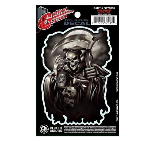 Planet Waves Guitar Tattoo, Grim Reaper