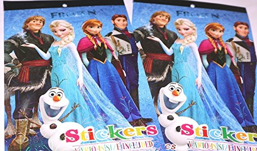 CJB Frozen Elsa Anna 100 Various Design Sticker in 2 Booklets (US Seller)