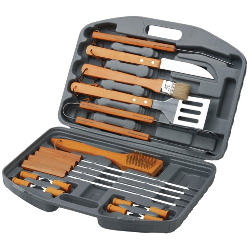 18-Piece BBQ Set In Blow Mould Case - Chefs Basics Select