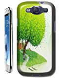 New High Quality Fashion Colorful Tree Abstract Oil Painting Design Phone Cases For Samsung Galaxy S3 i9300 No.1