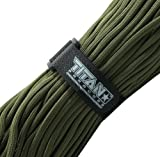 Titan Military 550 Paracord, with Official Fastener - Includes 2 FREE Paracord Project eBooks - This is the same Parachute Cord used by U.S. and Canadian Defense Forces - 100 FEET, NYLON
