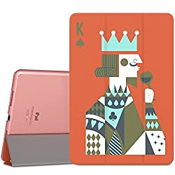 iPad Pro 9.7 Case - MoKo Ultra Slim Lightweight Smart-shell Stand Cover with Translucent Frosted Back Protector for Apple iPad Pro 9.7 Inch 2016 Release Tablet Poker K with Auto Wake Sleep