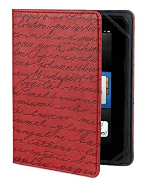 """Verso Artist Series Cities Case for Kindle Fire HD 7"""" (Previous Generation), Red (will only fit Kindle Fire HD 7"""", Previous Generation)"""