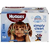 Huggies Simply Clean Baby Wipes, Refill, 768 Count