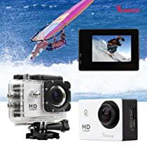 Sunco® DREAM 2 Action Video Full HD 1080p 12MP Waterproof Sports Camera With 1.5 -inch High Definition Screen (White)