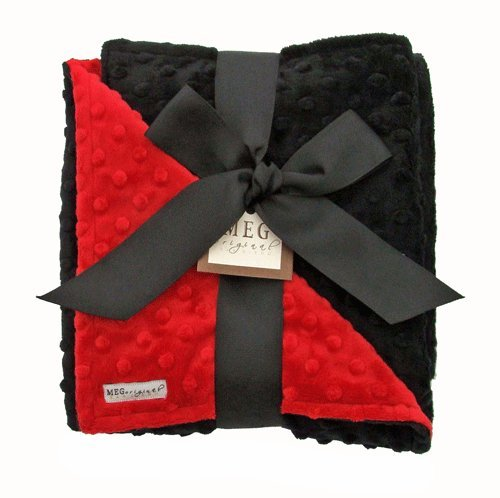 MEG Original Minky Dot Baby Blanket Red/Black