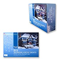 Christmas Workshop 87970 960 LED Snowing Icicle Lights - Blue from Benross Group
