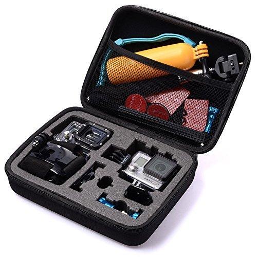 Shoot-Case-fr-GoPro-Hero-4-3-3-2-1-Tasche-fr-Kamera-Gehuse-LCD-Akku-SD-Karte-und-Zubehr-Universal-Gre-M-Utensilienfach-mit-Zipper-und-Trageriemen