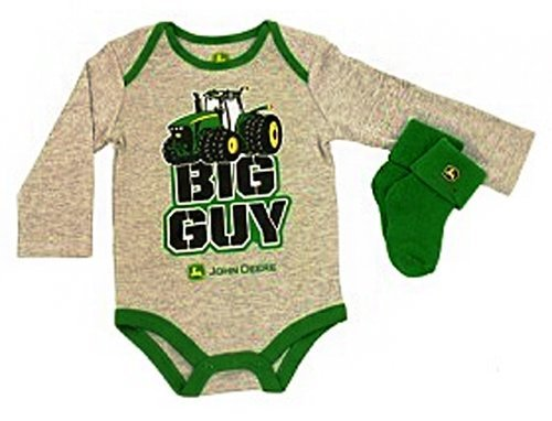 "John Deere Baby ""Big Guy"" Socks And Onesie Set Gray (9 Month) front-183285"