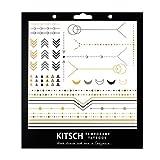 Kitsch Metallic Tattoos, Geo 1, 0.019 Ounce