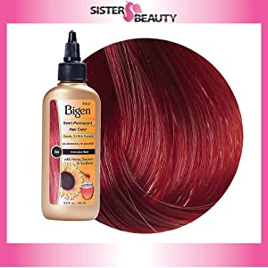 Bigen Semi Permanent Hair Color, Intense Red, 3.0 Ounce